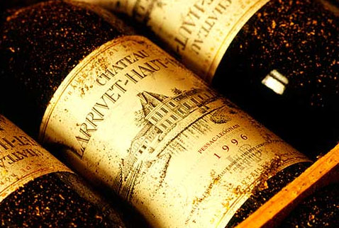 Французские вина - Bottles of Chateau Larrivet-Haut-Brion in box