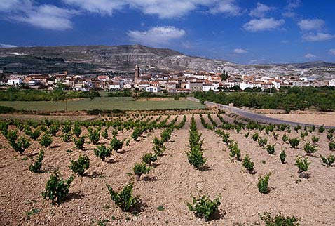 Регион виноделия Д.О. Калатайюд - Village of Mara viewed over vineyard, Aragón, Spain. [DO Calatayud]